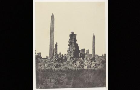 Fig. 4. Palais de Karnak, Les Obélisques; Thèbes