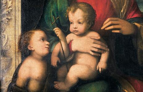 Fig. 6. Madonna con il Bambino e San Giovannino, dettaglio.